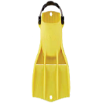 Apeks RK3 Fins | High Visibility Yellow | Excellent for Public Safety Diving