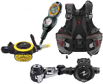 Aqua Lung Essential Package | Titan Regulator, ABS Octo, Pro LT BC, Suunto Zoop Computer Console | Order Aqua Lung scuba diving gear from our online dive equipment store...