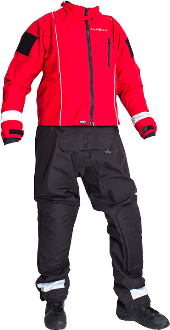 Aqua Lung Osprey Drysuit | The Osprey is a feature loaded breathable surface rescue suit designed with durability and mobility in mind offering superior fit and comfort.  The suit is designed for long duration water rescue events in swiftwater, flood, boat operations, and ice rescue missions.  The material and construction has over 7 years of proven field use in various aquatic environments.