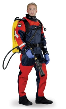 DUI TLS350PS Drysuits | Trilaminate material made of Nylon/Butyl Rubber/Nylon | www.dui-online.com | Order your DUI TSL350 Public Safety drysuits at Scuba Center in Eagan, Minnesota
