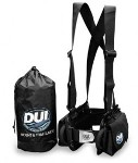 DUI Weight & Trim System: Get the weight off your back and increase your diving comfort with the DUI Weight& Trim™ System. The harness allows you to comfortably wear up to 40 pounds and lets you adjust the weights up and down, forward and back so you can put your weights right where you want them.
