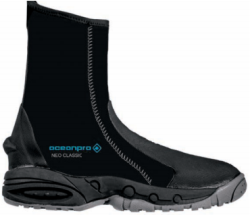 Oceanpro Neo Classic 6.5 mm Wetsuit Boots | Heavy-Duty Molded Sole | 6.5mm Neoprene