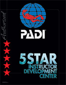 PADI Specialty Instructor Classes | Look to our PADI Professional Development section for more information on PADI courses from Divemaster to Instructor and beyond (including EFR - Emergency First Response Instructor information). | PADI Five Star Instructor Development Centers meet all PADI Five Star Dive Center standards and provides the same level of service. They also meet additional training requirements and offer PADI Instructor-level training. If your goal is to become a PADI Scuba Instructor look to a PADI Five Star Instructor Development Center.