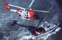 Water Rescue Equipment and Marine Safety Equipment | US Coast Guard helicopter water rescue operation | Photo: US Coast Guard
