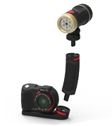 "Quickly and easily expand your camera set with an additional Sea Dragon Light and Flex-Connect accessories - add grips, Flex Arms, trays and more with just a ""click!"" Flex-Connect allows you to transform your camera set from compact to full-featured in just seconds, providing a quick way to adjust to any dive environment."