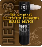 Submersible Systems Helicopter Emergency Egress Device 3 | HEED 3 | The HEED III is a refillable fully self contained breathing device. Refilling HEED III is about as difficult as refilling a bike tire. Simply attach the patented HEED III refill adapter to any breathing air compressor or filled standard size 3000 psi SCUBA tank. The always-on regulator is ready to deliver life-saving air in an underwater emergency or toxic air environment. | Submersible Systems HEED 3 is CE approved