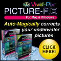 Vivid-Pix | Software Auto-Magically* corrects your pictures | Order online or at either Scuba Center location... Eagan, Minnesota and Minneapolis, Minnesota
