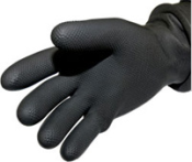 Whites EZ-ON Black Rubber Dry Gloves | whitesdiving.com