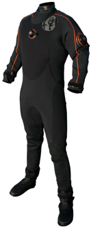 Whites Fusion One Drysuit | Whites innovative DryCORE technology offers the ultimate in mobility, warmth, and streamlining. Quite simply, there is no comparable dive suit, wet or dry, that can match the performance of this revolutionary new design. | www.whitesdiving.com | Available at Scuba Center in Eagan, Minnesota