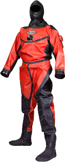 Aqua Lung Hazmat Public Safety Drysuit  | The Hazmat Public Safety Drysuit is designed with the professional Public Safety diver in mind. Countless Fire Dept.'s, Sheriff's Dept.'s and rescue teams have been using the Whites Hazmat for years. This suit has been designed with this diver in mind; the most popular features & options have become standard to meet the Public Safety diver's needs. | Standard feature on the Whites Hazmat Public Safety drysuit, the SI Tech contaminated water exhaust valve has a dual exhaust to ensure that no contaminates enter the suit through the exhaust valve. | Authorized Whites Public Safety & Commercial Dealer | Search and Rescue equipment available at Scuba Center in Eagan, Minnesota