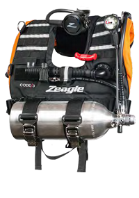 Zeagle Code 3 | Rapid Emergency Response System | Public Safety Buoyancy System | Code 3 Rapid Diver is the next generation of BCDs for all military, coast guard, law enforcement, maritime security, marine patrol and fire and rescue personnel.